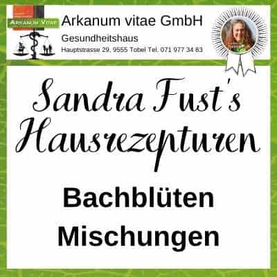Bachblütenmischungen der Marke Sandra Fust's