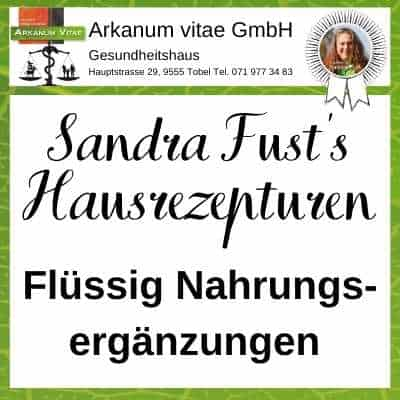 Nahrungsergänzungen flüssig der Marke Sandra Fust's