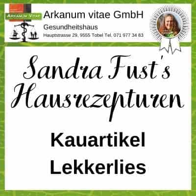 Kauartikel & Lekkerlies der Marke Sandra Fust's