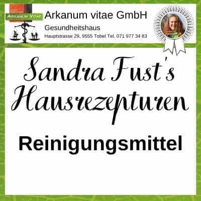 Reinigungsmittel der Marke Sandra Fust's