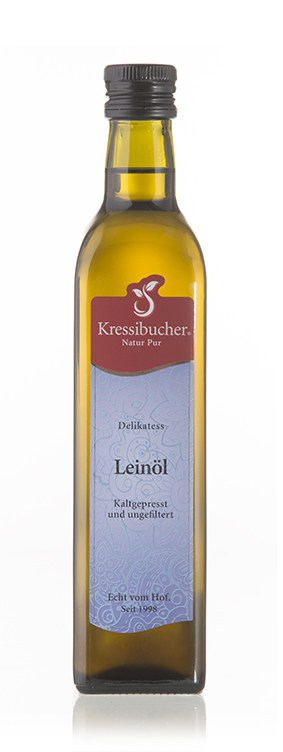 Leinöl - Kressibucher